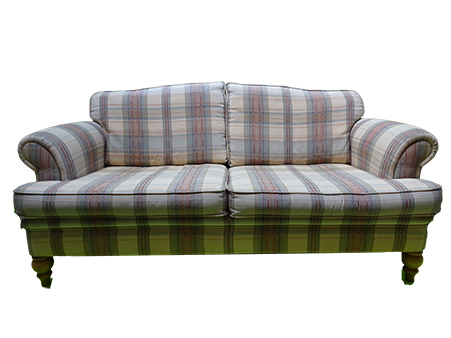 Stripe Fabric 3-Seater Sofa