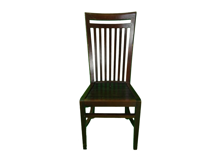 2 Dark OAK Dining chairs